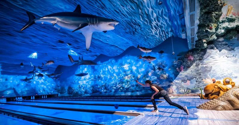 You Can Go Bowling With Sea Turtles And Sharks At This Underwater Aquarium