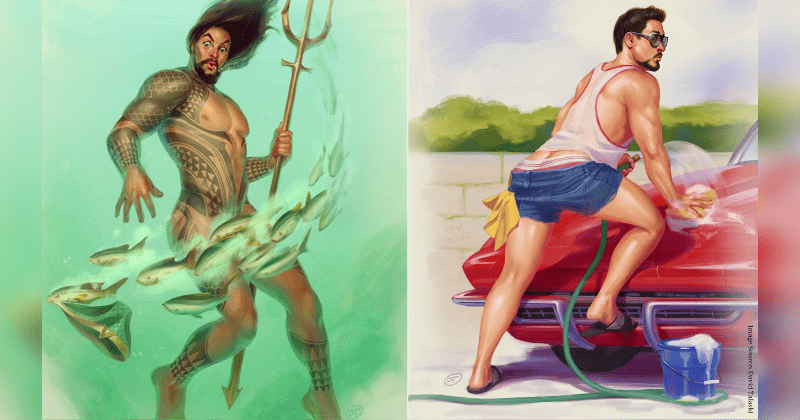 Artist Depicts Male Superheroes As Sexy Pin Up Models In Steamy Series